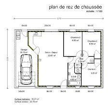 plan maison en l plain pied 3 chambres plan maison plain pied 3 chambres rectangulaire