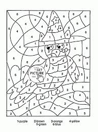 Halloween Math Multiplication Worksheets by Printable Color By Number Coloring Pages Best Colour Numbers