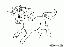 Cute Unicorn Coloring Pages Getcoloringpages Throughout Baby