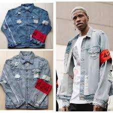Quality Denim Jacket Men Destroyed Hip Hop Streetwear Jaqueta Jeans Masculina Mens Jackets And Coats Vintage Kanye West Waterproof