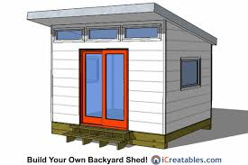 10x12 modern backyard shed plans from icreatables com modern