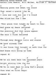 Country Music Amazing Grace Brenda Lee Lyrics and Chords
