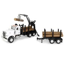 1/16 Big Farm Peterbilt Model 367 Log Truck With Pup Trailer And ...