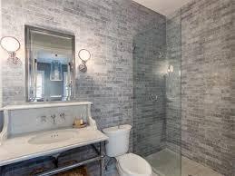 brick tile bathroom room design ideas