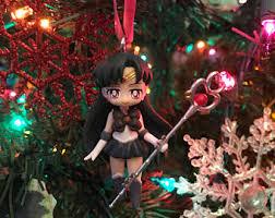 Plutos Christmas Tree Ornament by Sailor Moon Ornament Etsy