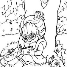 Rainbow Brite Reading Book Under Tree Coloring Page