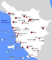 The G Wine Region Tuscany Chianti Map On Pisa
