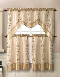 Pale Beige Curtains With Pattern