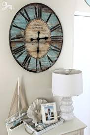 Multi Colored Wall Clocks Large Coloured Metal Clock Beach Chic Coastal Cottage Home Tour