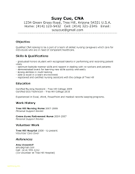 Example Of Resume With No Experience Inspirational Job Description For Nursing Assistant Or