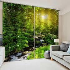 grüne natur landschaft vorhänge schlafzimmer wohnzimmer