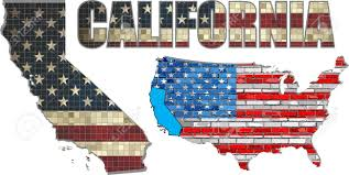 USA State Of California On A Brick Wall