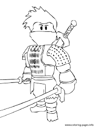 Print Roblox Ninja Coloring Pages