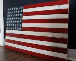 DIY Rustic American Flag Large Wooden Wall Art