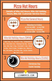 Pizza Hut Hours And Holiday