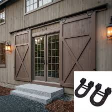 Barn Door Kit. Sliding Barn Door Kit And Sliding Barn Door Kit ... 75 8 10 12 13 15 Ft Antique Black Wooden Double Sliding Barn 82ft Closet Door Heavy Adjustable Bypass Spanbarn Hdware Systemspan Beautiful This Is A American Pro Decor Solid Steel Rolling Backyards Featured Image Lowes Installation Traditional Kit Hingeless And Mmi 72 In X 80 Primed 15lite With Double For Two Doors Track