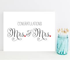 Mrs And Congratulations Card Wedding For Lesbian