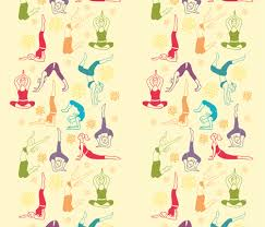 Fun Workout Matching Border Fabric By Oksancia On Spoonflower