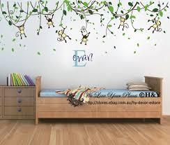 Tree Wall Decor Ebay by Custom Personalised Name Monkey Vine Wall Art Stickers Kids