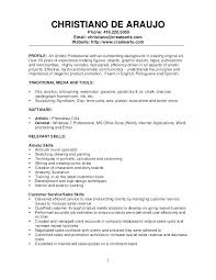 Painter Skills Resume Examples Packed With Sample For To Create Amazing