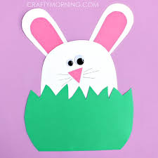 Paper Bunny Hiding In The Grass Fun Family Crafts Easy For Kids With Construction