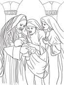 Related Coloring Pages Zechariah Elizabeth