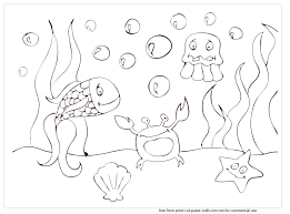Print Cut Paste Craft Blog Archive Sea Scene Coloring Pages