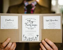 Rustic Wedding Invitation Pocket Fold Pocketfold
