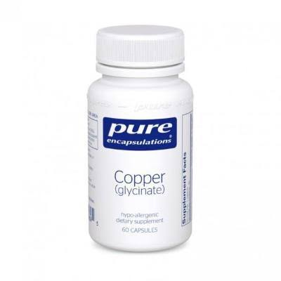 Pure Encapsulations Copper (Glycinate) Hypoallergenic Essential Mineral Supplement - 60 Capsules