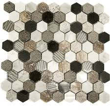 soho studio corp surface tech mosaic hexagon tile colors