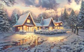 Thomas Kinkade Christmas Tree Village by Wallpapers Thomas Kinkade Group 75