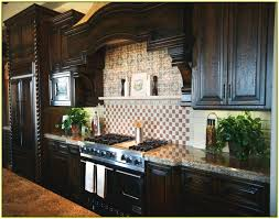 glass tile backsplash ideas with dark cabinets home design ideas