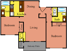 Bathroom Floor Plans With Washer And Dryer by One U0026 Two Bedroom Arlington Apartments The Commons
