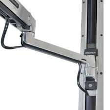 Ergotron Lx Desk Mount Lcd Arm Pdf by Ergotron 45 353 026 Lx Sit Stand Wall Mount Monitor Arm