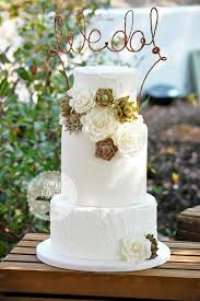 Chic Western Wedding Cake