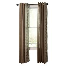 Curtains With Grommets Pattern by Martha Stewart Living Snail Shell Geo Border Grommet Curtain