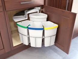 Slim Bathroom Trash Can With Lid by Kitchen Garbage Can Under Sink Cans Trash Slim Bathroom