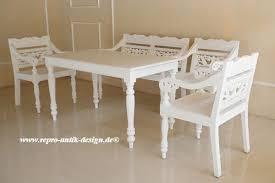 barock esszimmer garnitur garten garnitur landhaus ibn 011 weiß tisch bank stühle