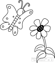 Animals Clipart butterfly black white outline 910 Classroom Clipart