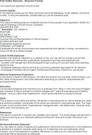Resume Format Copy Editor editor resume cv or resume sharelatex