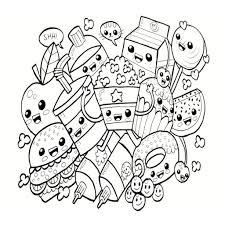 Kawaii Colorear Comida Dibujo Wwwtollebildcom