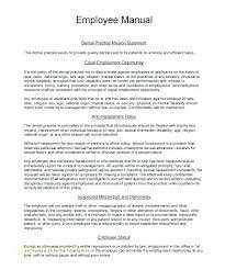 Employee Guidelines Template Internal Procedures Policy Manual Sample Example