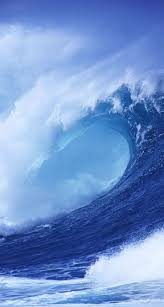 Customize your iPhone 5 with this high definition Blue Wave Crashing wallpaper from HD Phone Wallpapers