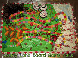 Candy Land Board Game Cake