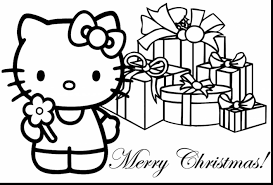 Stunning Hello Kitty Christmas Coloring Pages With Tree Printable And