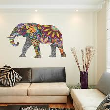 Wall Mural Decals Uk by Abstract Elephant Full Colour Wall Sticker Wall Decal Wall Art