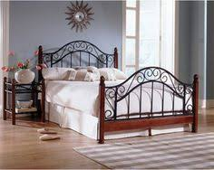 Wrought Iron And Wood King Headboard by Found It At Wayfair Meade Metal Bed Http Www Wayfair Com Daily