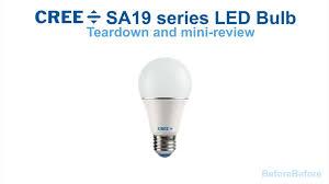 teardown and review of new 2016 cree sa19 led light bulb