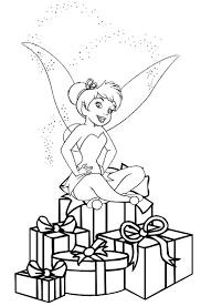 Present Tinkerbell Coloring Pages