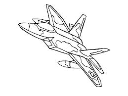 Download Coloring Pages Jet Airplane Children Gallery Ideas